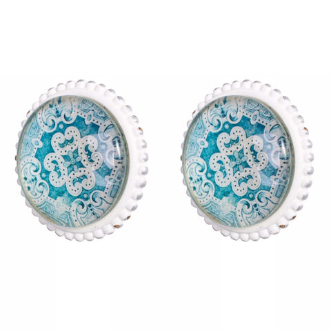 Knob DIY Set of 2 French Aqua Agii | The Renmy Store