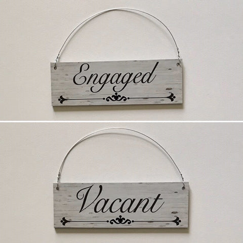 Vacant & Engaged Sign Toilet Busy Bathroom Vintage Hanging Sign - The Renmy Store