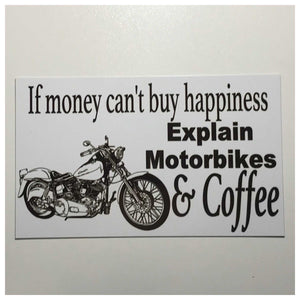 Motor Bikes Motorcycle & Coffee Sign - The Renmy Store