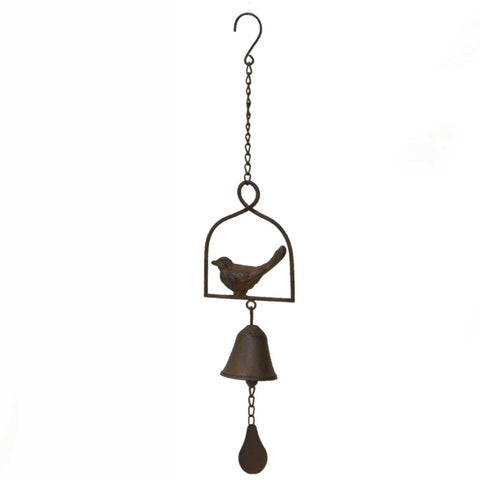 Hanging Chime Bell Cast Iron Bird - The Renmy Store