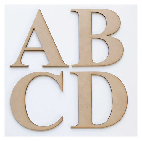 Letter Letters Alphabet MDF Raw Wood Timber 15cm