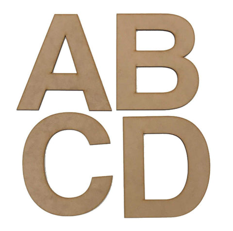Letter Letters Alphabet MDF Wooden Bold 15cm | The Renmy Store