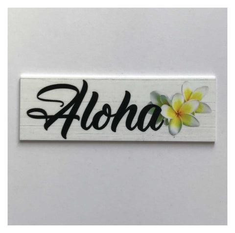 Aloha Hawaiian Frangipani Tropical Sign