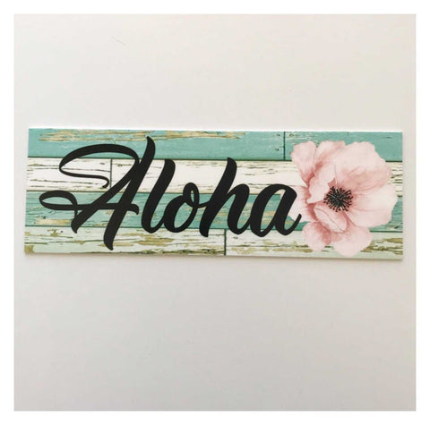 Aloha Hawaiian Tropical Sign - The Renmy Store