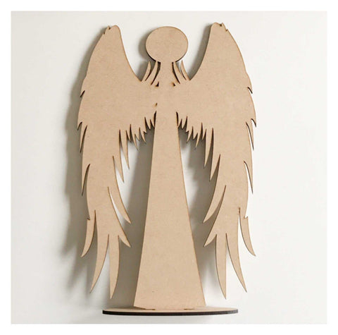 Angel Standing Raw MDF Wooden DIY Craft - The Renmy Store