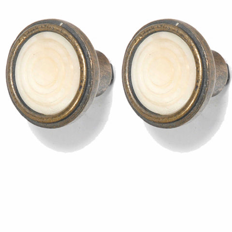 Knob DIY Set of 2 Brass Bone Vintage | The Renmy Store