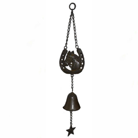 Hanging Chime Bell Cast Iron Horse Shoe - The Renmy Store