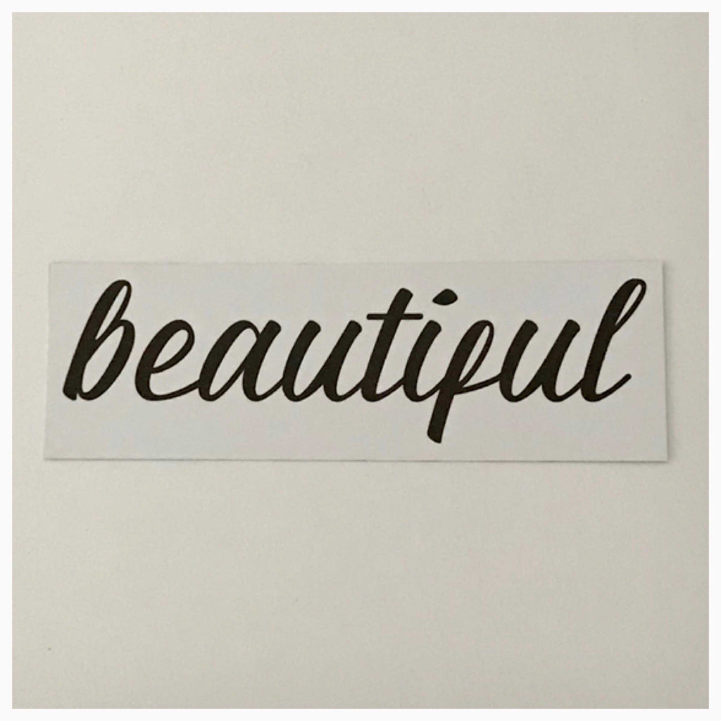 Beautiful Word White Sign Wall Plaque or Hanging - The Renmy Store