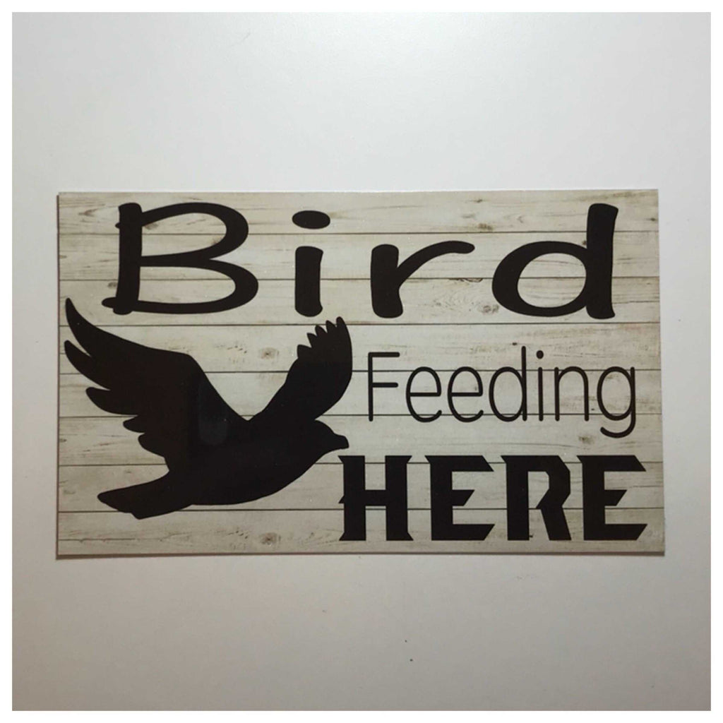 Bird Feeding Here Sign Hanging or Plaque - The Renmy Store
