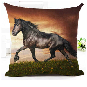Cushion Pillow Black Horse - The Renmy Store