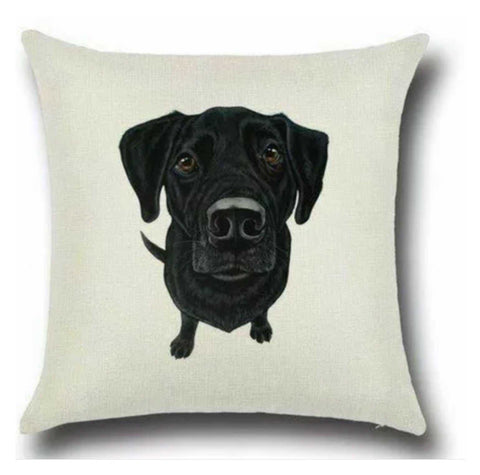 Cushion Pillow Dog Labrador Black Cutie