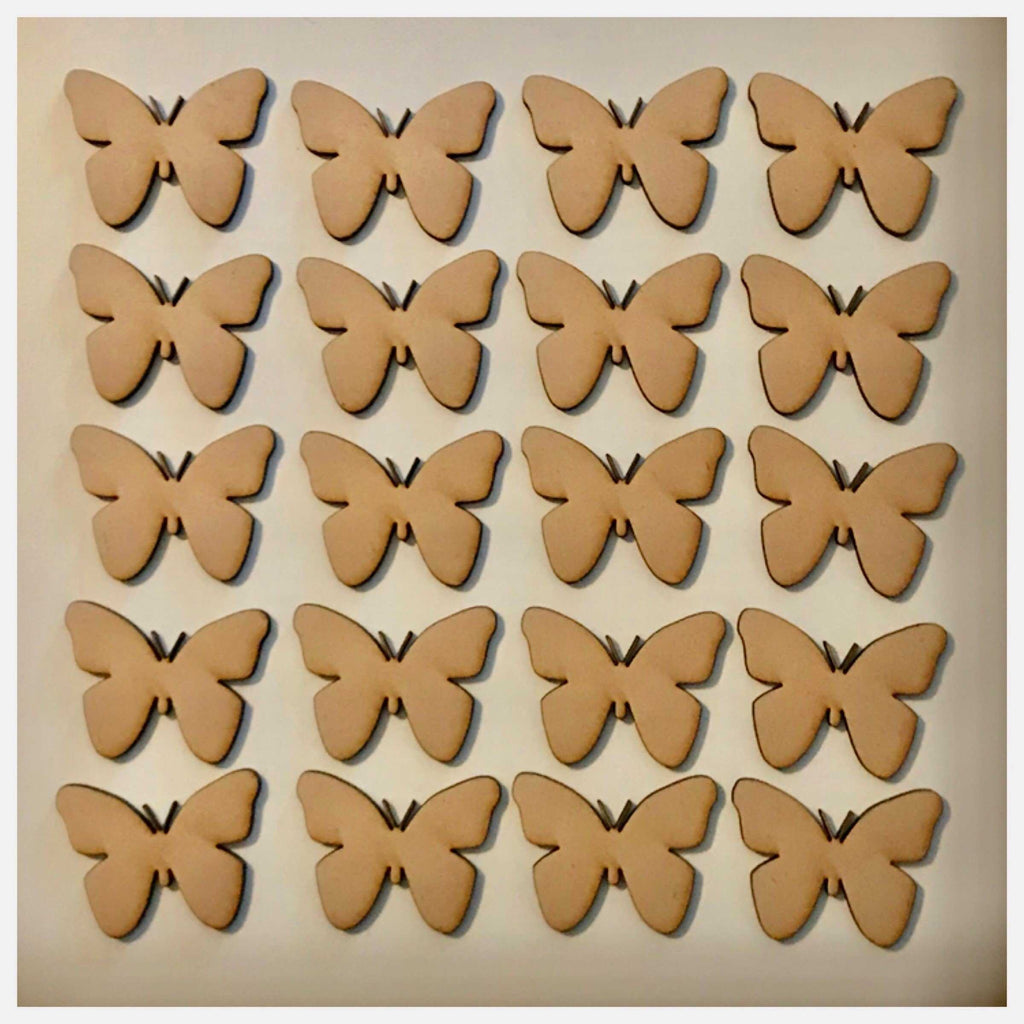 Butterfly Butterflies Set of 20 MDF Shape DIY Raw Cut Out Art Craft Decor - The Renmy Store