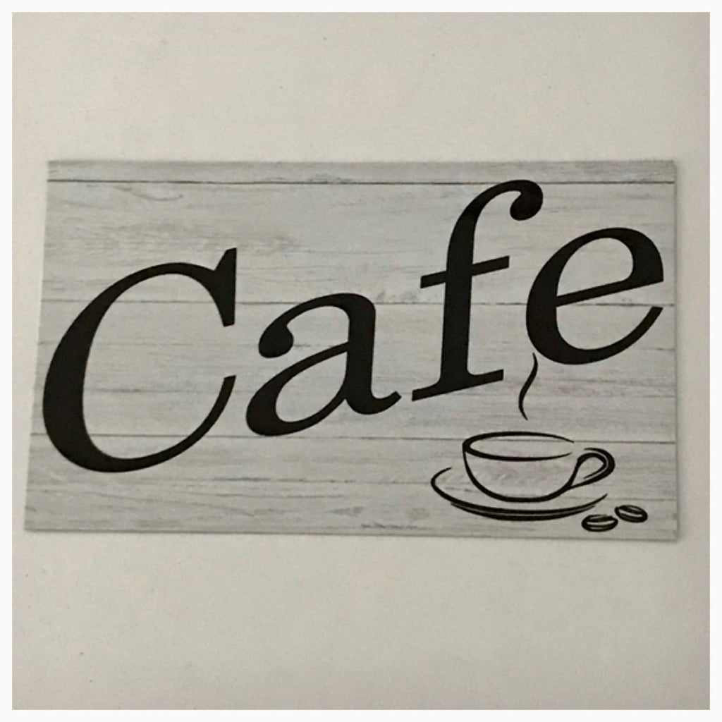Cafe Timber Look Sign Plaque or Hanging - The Renmy Store