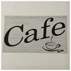 Cafe Timber Look Sign | The Renmy Store