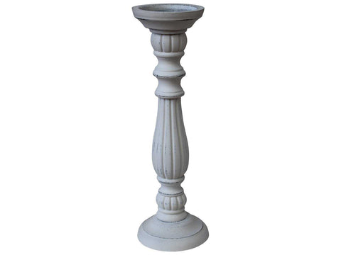 Candle Stick Holder White Large - The Renmy Store