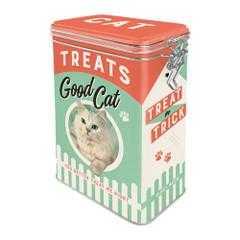 Cat Treats Food Storage Vintage Retro | The Renmy Store