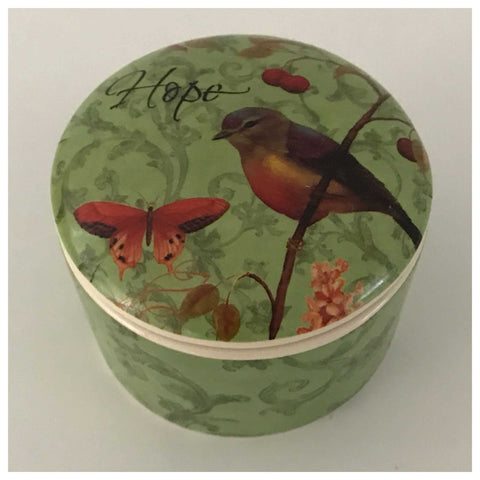 Ceramic Bird Hope Green Container - The Renmy Store