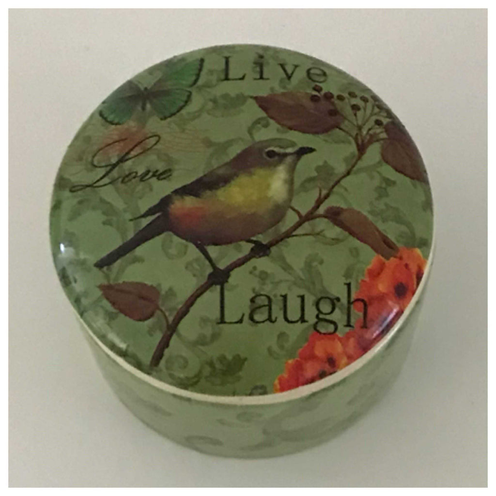 Ceramic Bird Live Love Laugh Container - The Renmy Store