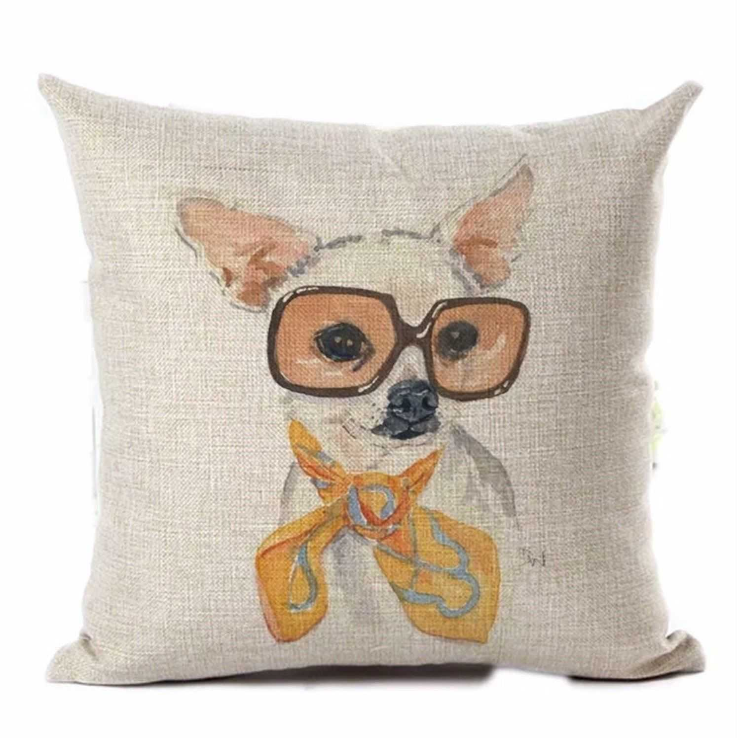 Cushion Pillow Dog Chihuahua Fun Funky Retro - The Renmy Store