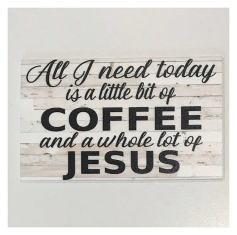 Coffee & Jesus Shabby Chic Sign | The Renmy Store