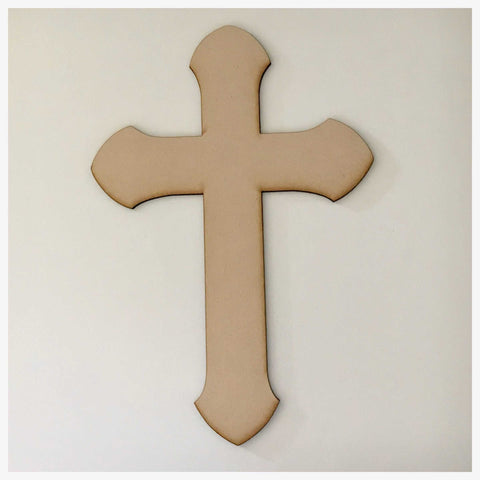 Cross MDF Rounded Timber DIY Raw Craft Other Home Décor The Renmy Store