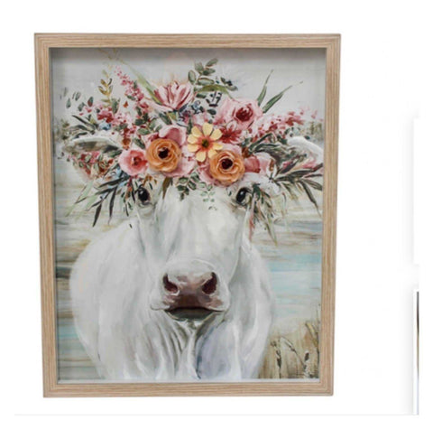 Cow Framed Wall Photo Print Frame