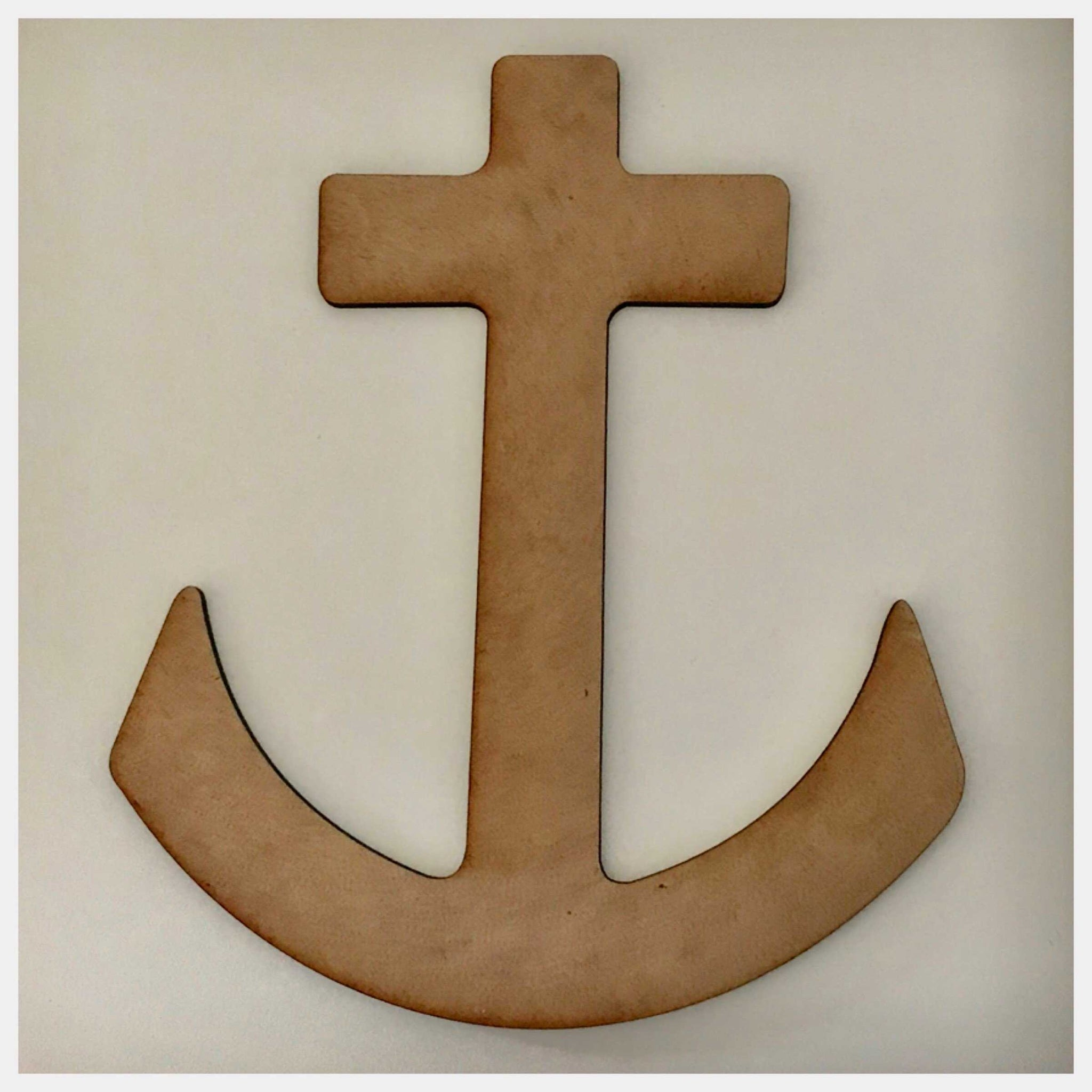 Cross Anchor MDF Shape DIY Raw Cut Out Art Religious Craft Decor Other Home Décor The Renmy Store