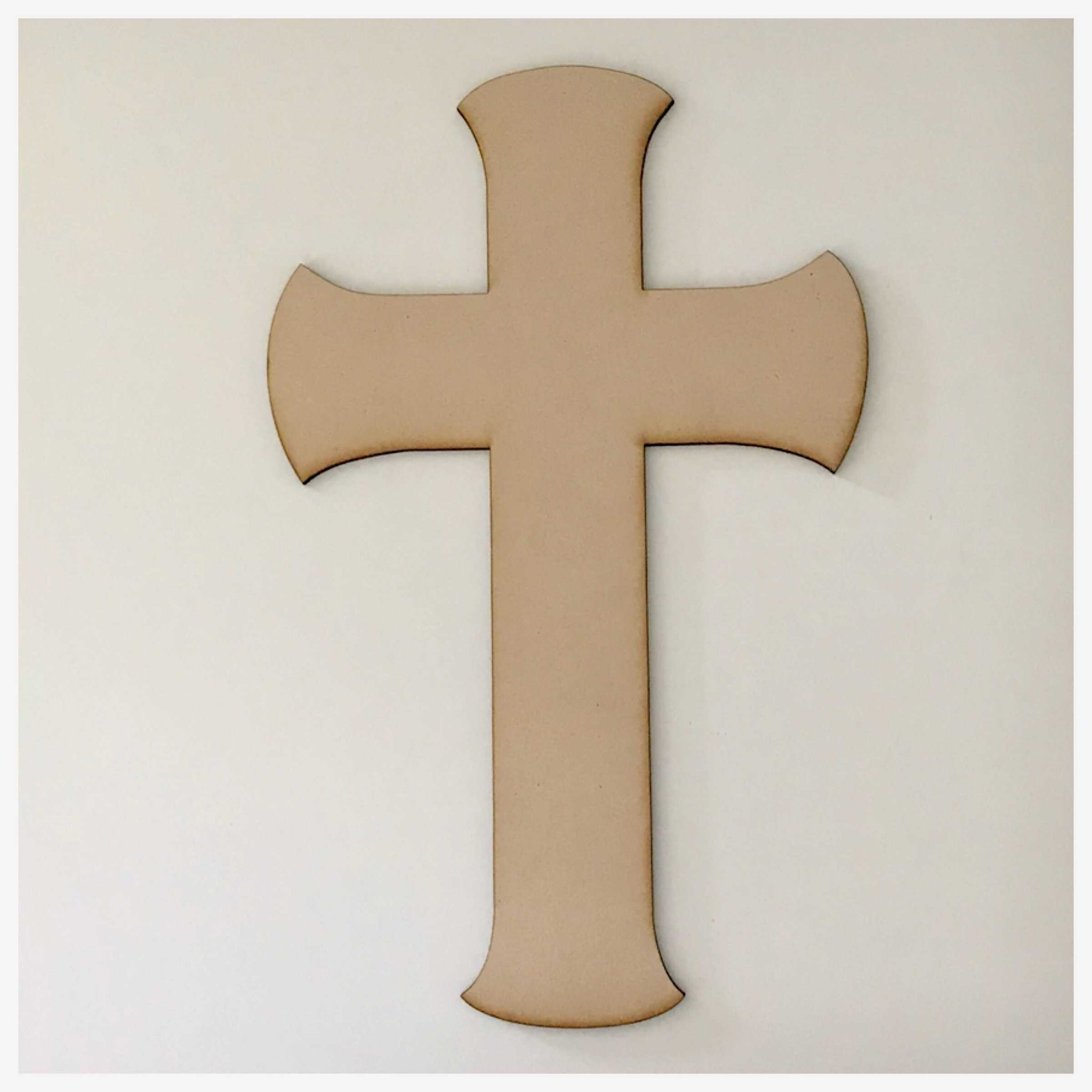 Cross MDF Dome Timber DIY Raw Craft