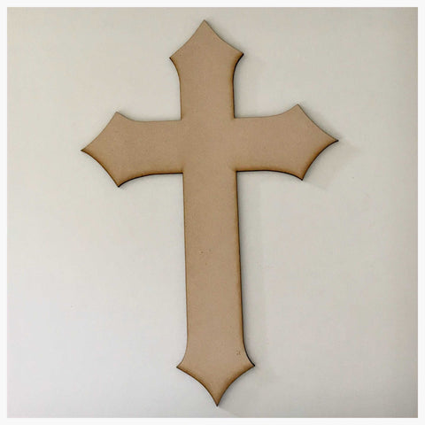 Cross MDF Rustic Pointed Timber DIY Raw Craft - The Renmy Store