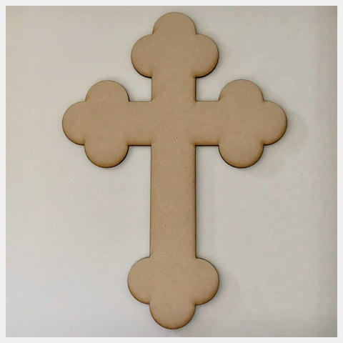 Cross MDF Vintage Timber DIY Raw Craft - The Renmy Store