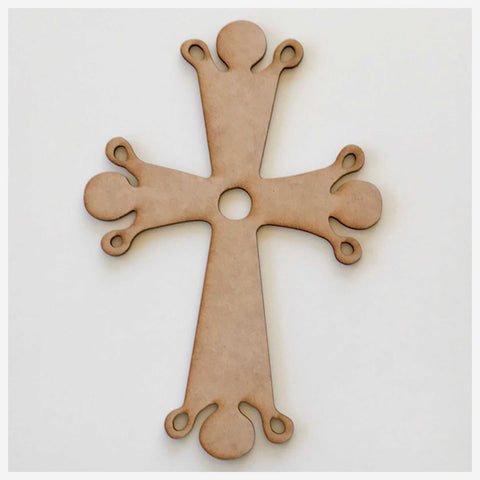 Cross with Drops MDF DIY Raw Cut Out Art Religious Craft Decor Other Home Décor The Renmy Store