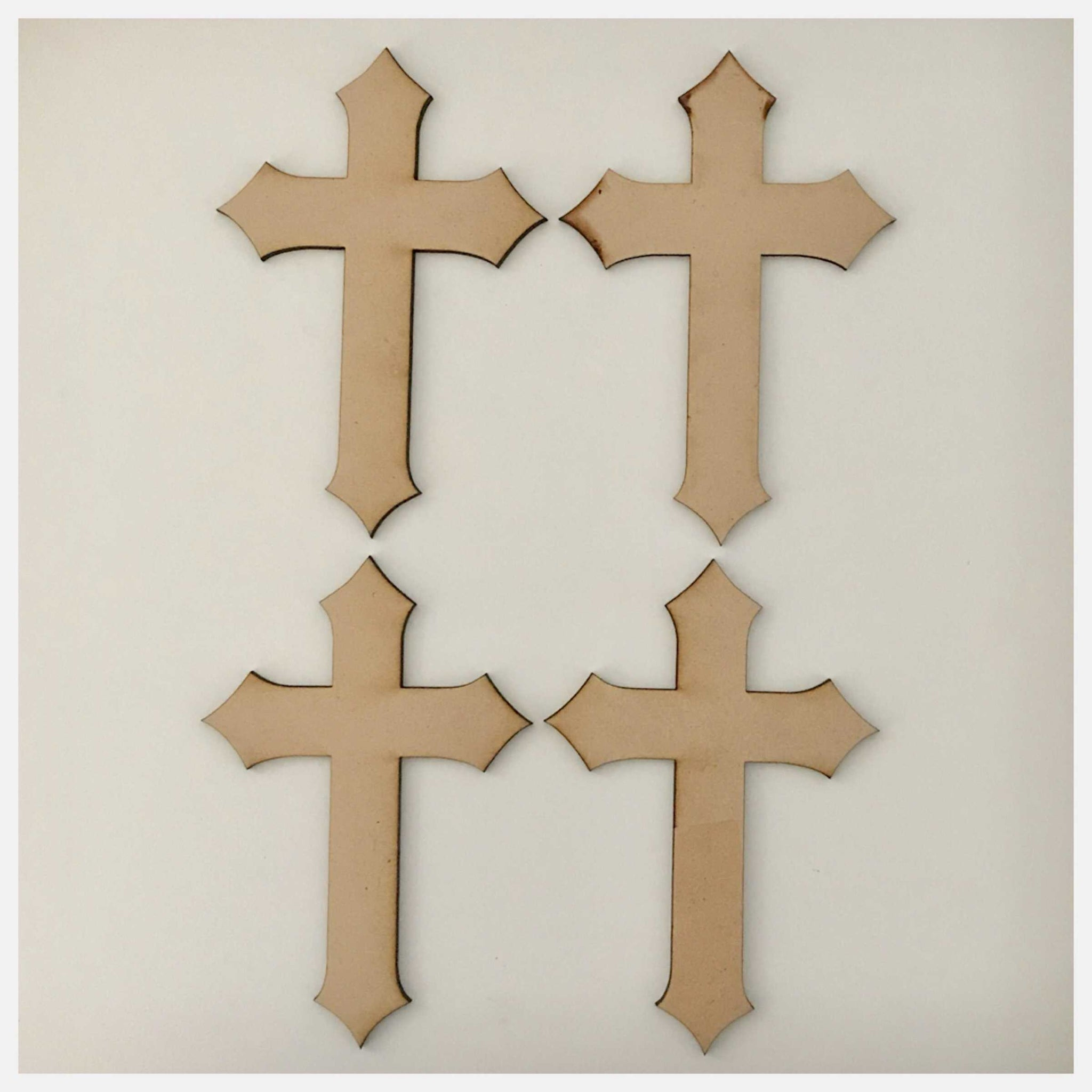 Cross MDF Pointed Small Shape DIY Raw Cut Out Art Religious Craft Decor