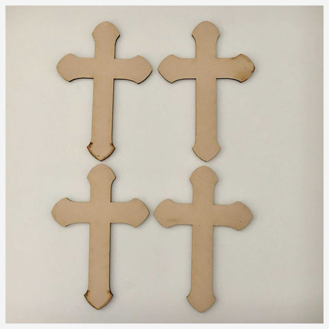 Cross MDF Rounded Small Timber DIY Raw Cut Out Art Craft Other Home Décor The Renmy Store