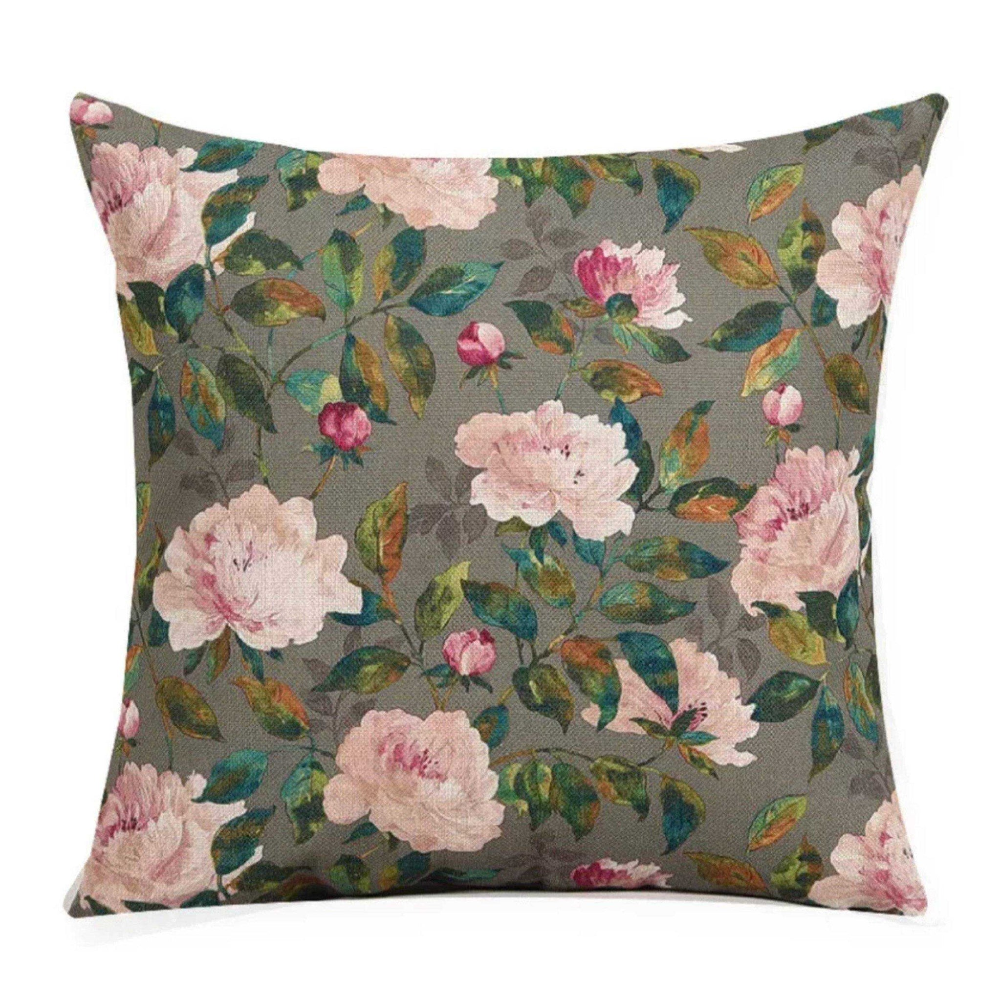 Cushion Pillow Light Pink Floral Flowers - The Renmy Store