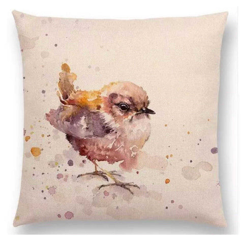 Cushion Pillow Bird Little Brown Sparrow - The Renmy Store