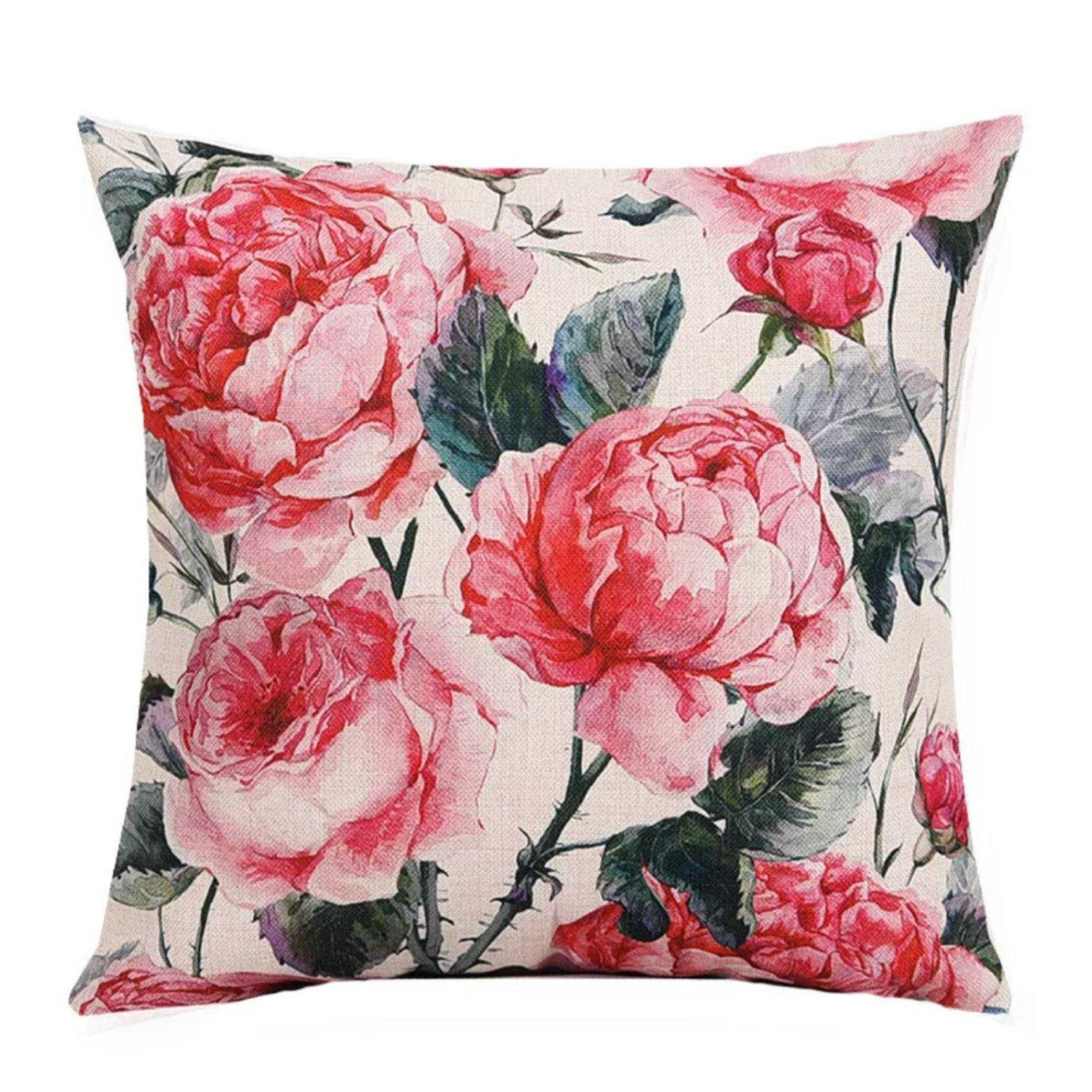 Cushion Pillow Pink Roses Rose - The Renmy Store