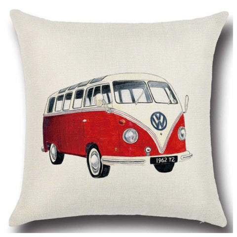 Cushion Pillow Red Kombie VW Van - The Renmy Store