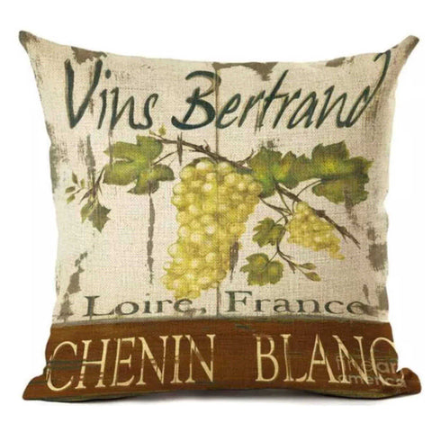 Cushion Pillow Wine French White - The Renmy Store