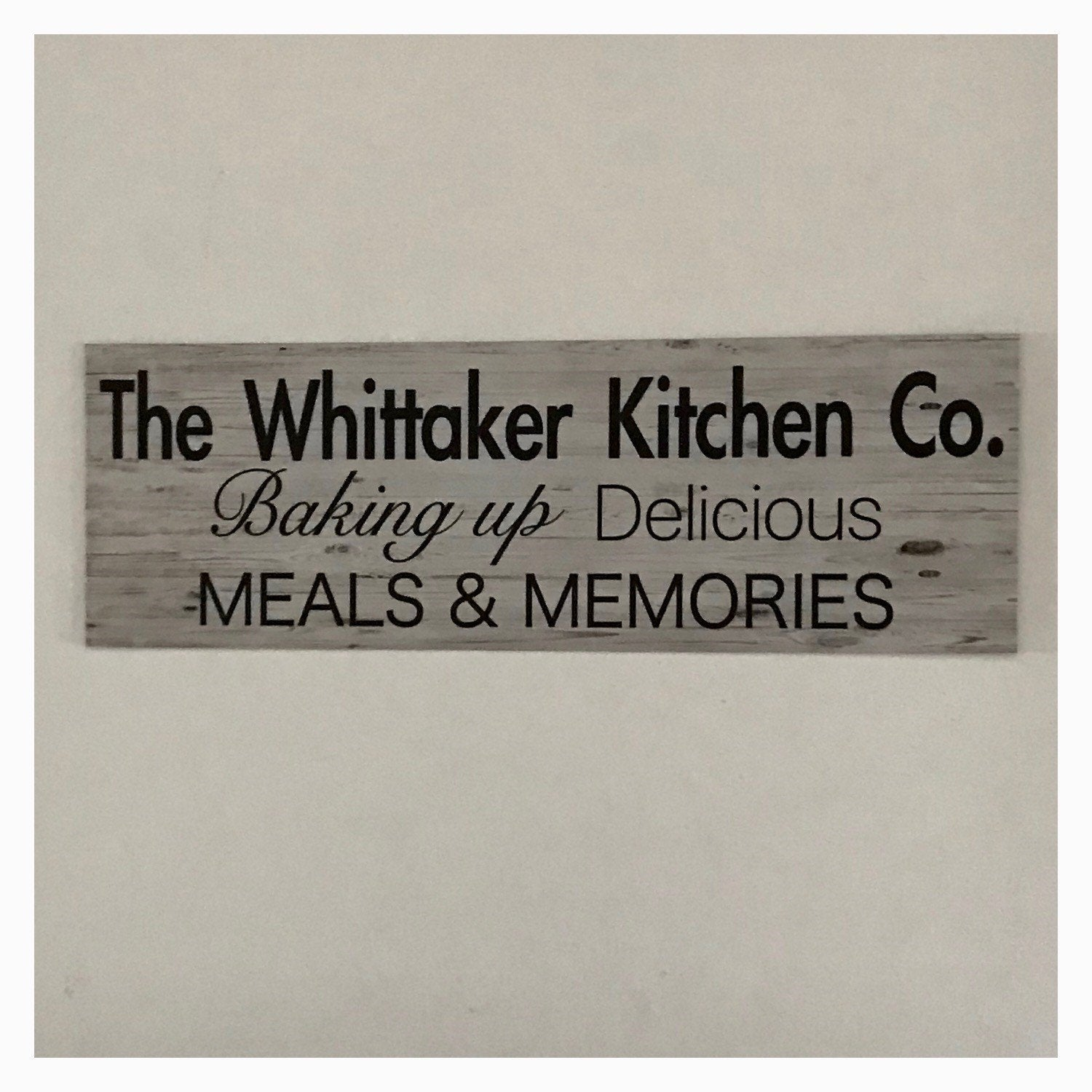 Vintage Kitchen Co. Custom Your Name Sign Wall Plaque or Hanging - The Renmy Store