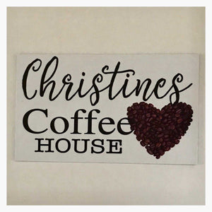Coffee House Cafe White Your Name Vintage Custom Sign - The Renmy Store