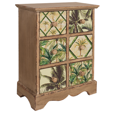 Cabinet Draws Storage Rustic Palm Trees | The Renmy Store