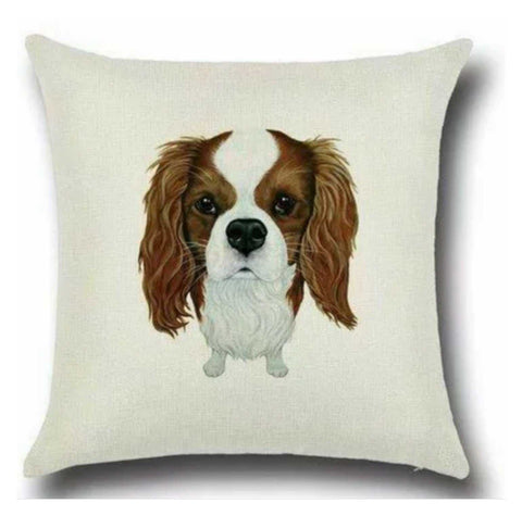 Cushion Pillow Spaniel Cavalier Brown Dog