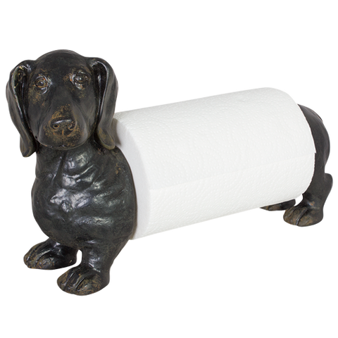 Dog Dachshund Kitchen Paper Towel Dispenser Holder