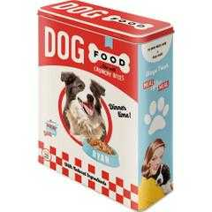 Box Tin Container Dog Food Vintage Retro
