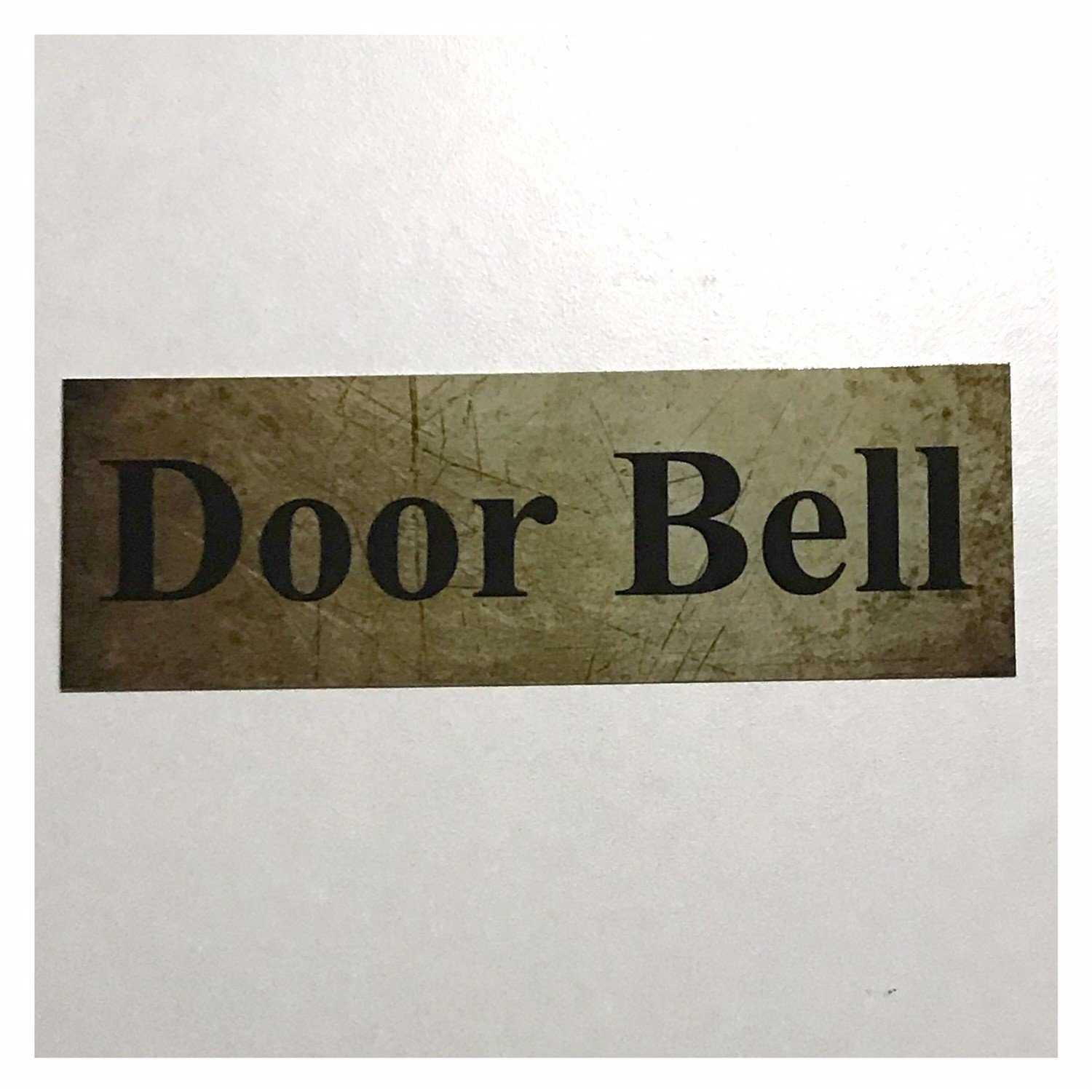 Door Bell Vintage Style Sign Wall Plaque or Hanging Plaques & Signs The Renmy Store
