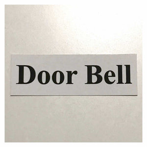 Door Bell White Sign Wall Plaque or Hanging Plaques & Signs The Renmy Store