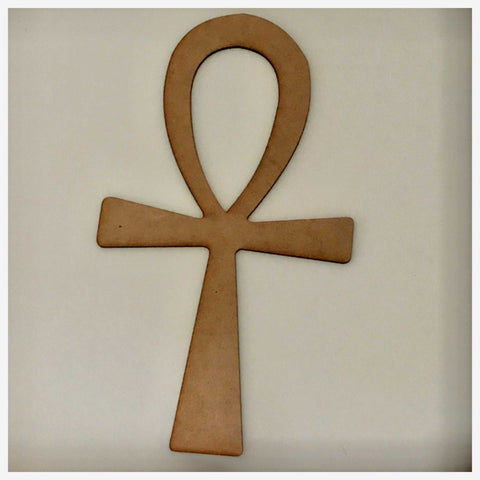 Cross Egyptian Anch MDF Shape DIY Raw Cut Out Art Religious Craft Decor Other Home Décor The Renmy Store