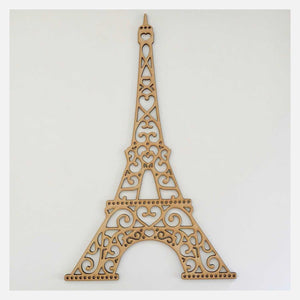 Eiffel Tower French Decorative Scroll DIY Raw MDF Timber