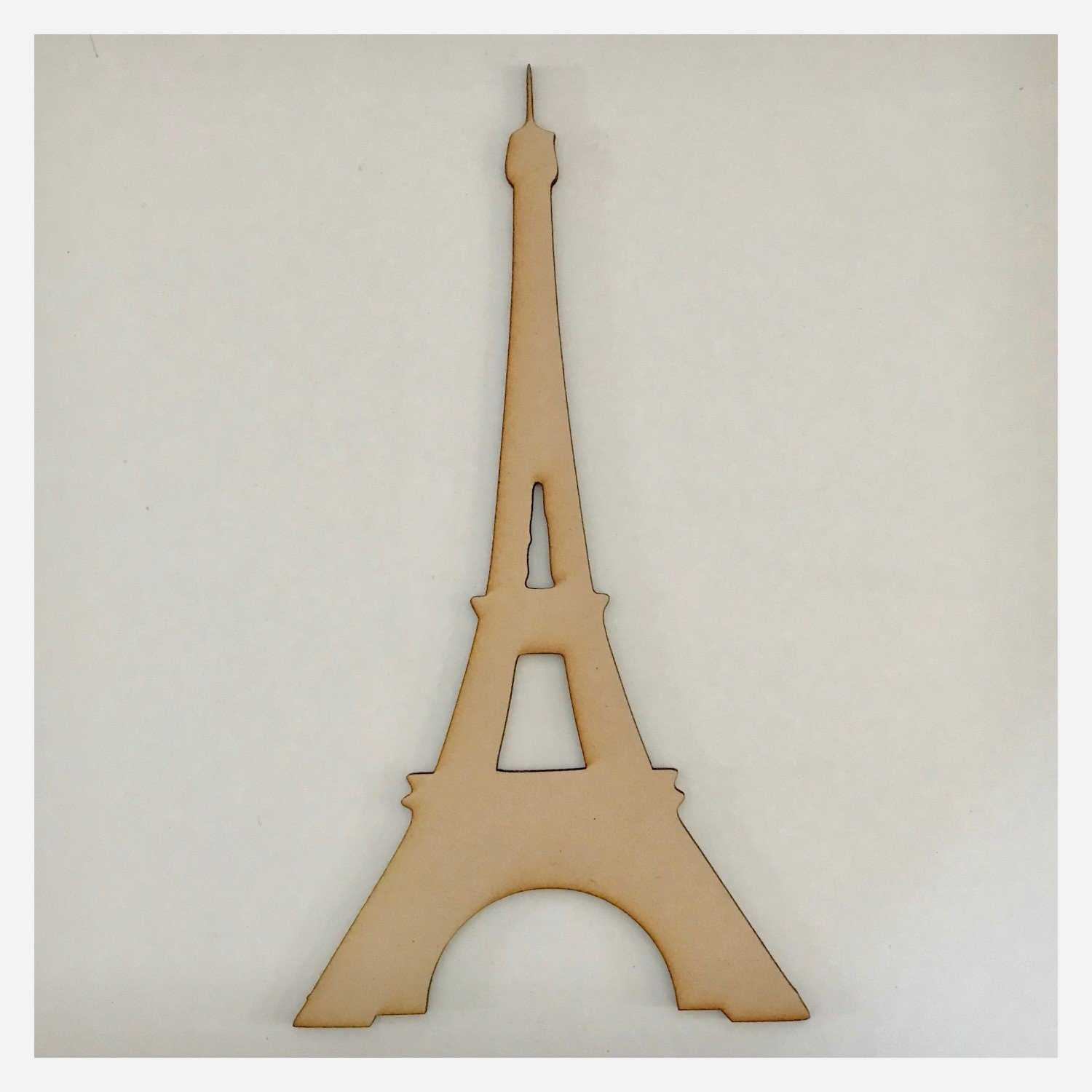 Eiffel Tower French Plain DIY Raw MDF Timber - The Renmy Store