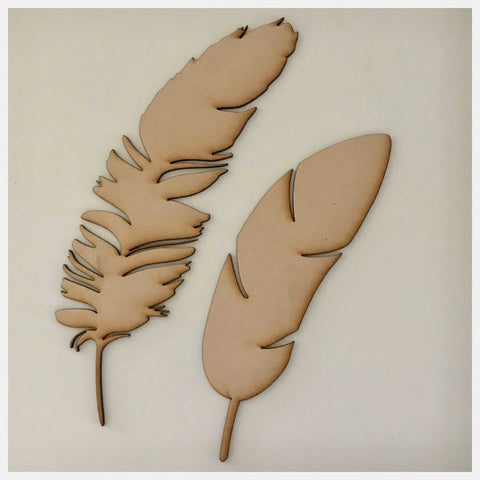 Feather Feathers MDF Timber DIY Raw Craft Other Home Décor The Renmy Store